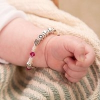 Personalised Purple Swarovski Baby Bracelet - Purple Gifts