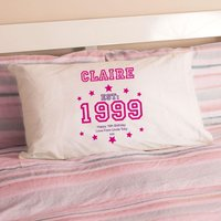Girls 16th Birthday Established Year Pillowcase - 16th Birthday Gifts