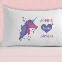 Girls Love Unicorns Pillowcase - Unicorns Gifts