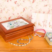 Girls Lords Prayer Keepsake Musical Jewellery Box - Jewellery Box Gifts