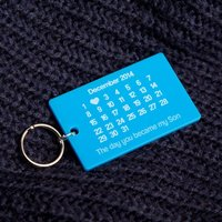 The Day You Became My Son Keyring - Son Gifts