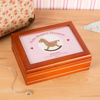 Customised Rocking Horse Musical Jewellery Box - Horse Gifts