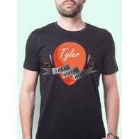 Mens Guitar Hero Personalised T-Shirt - Music Gifts