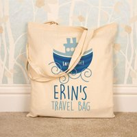 Custom Natural Cotton Travel Tote - Custom Gifts