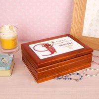 Bear 9th Birthday Personalised Musical Jewellery Box - Jewellery Box Gifts