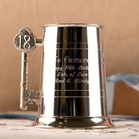 Personalised 18th Birthday Pewter Tankard - 18th Gifts