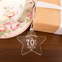 Personalised 70th Birthday Acrylic Star - 70th Birthday Gifts