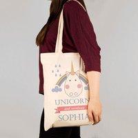 Personalised Unicorn Shoulder Tote - Unicorn Gifts