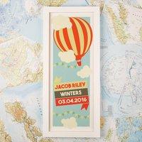 Childrens Hot Air Balloon Personalised Print & Frame - Hot Air Balloon Gifts