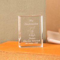 Personalised Confirmation Crystal Bible: Dove Design - Bible Gifts