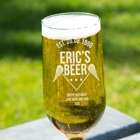 Customised Birthday Beer Glass - Drinking Gifts
