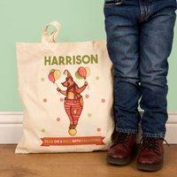 Childrens Illustrated Bear Shopper Bag - 1st Birthday Gifts