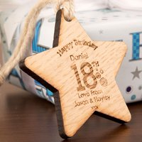 Personalised 18th Birthday Wooden Star - 18th Gifts