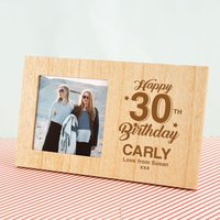 Personalised 30th Birthday Wooden Photo Frame - 30th Gifts