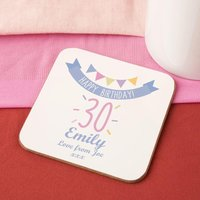 Girls 30th Birthday Drinks Coaster - 30th Gifts