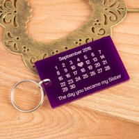 The Day You Became My Sister Keyring - Sister Gifts
