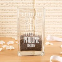 Personalised 80 Years of... Square Vase - 80th Birthday Gifts