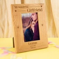 Wonderful Girlfriend Customised Oak Frame - Girlfriend Gifts