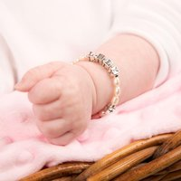 Sterling Silver And Fresh Water Pearl Baby Bracelet - 1st Birthday Gifts