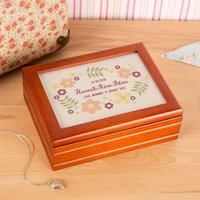 Pretty Floral Personalised Jewellery Music Box - Music Gifts
