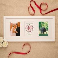 Personalised 40th Ruby Wedding Anniversary 3 Aperture Frame - Ruby Wedding Anniversary Gifts