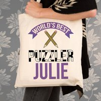 Personalised Best Puzzler Shoulder Bag - Shoulder Bag Gifts