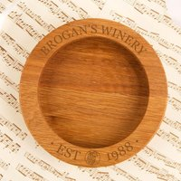 Personalised Winery Wooden Wine Bottle Coaster - Forever Bespoke Gifts