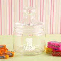 You Passed! Custom Glass Sweet Jar - Custom Gifts
