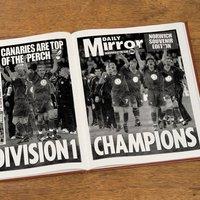 Custom Norwich City Football Club Headline Book - Custom Gifts