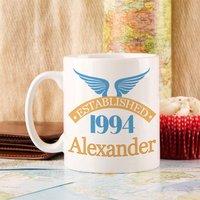 21st Birthday Established Since Mug For Him - 21st Gifts
