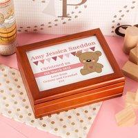 Personalised Teddy Bear Musical Jewellery Box - Jewellery Box Gifts