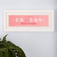 Pink Wedding & Anniversary Framed Print - Wedding Anniversary Gifts