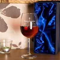 Engraved Wine Taster Glass - 90th Birthday Gifts