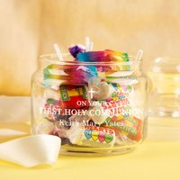 First Holy Communion Glass Sweet Jar - First Holy Communion Gifts