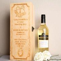 Bespoke Wedding Wooden Wine Box - Forever Bespoke Gifts