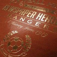 Customised Rangers Football Club Headline Book - Rangers Gifts