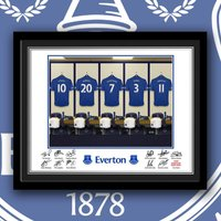 Everton Personalised Dressing Room Framed Print - Everton Gifts