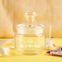 Custom Vintage Anniversary Sweet Jar - Custom Gifts