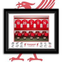 Liverpool Dressing Room Personalised Framed Print - Liverpool Gifts