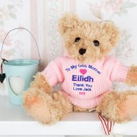 Personalised Godmother Embroidered Teddy Bear - Godmother Gifts