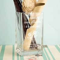 If Aunties Were Flowers Personalised Glass Vase - Forever Bespoke Gifts