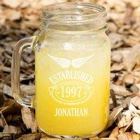 Personalised Established Since 18th Birthday Mason Jar - 18th Gifts