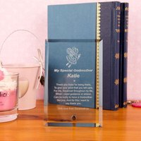 Godmother Glass Frame Keepsake - Godmother Gifts