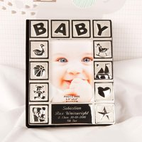 Engraved Silver Plated Baby Photo Album - 1st Birthday Gifts