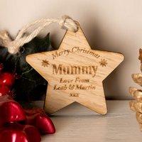 Bespoke Wooden Christmas Star Mum - Forever Bespoke Gifts