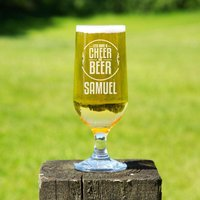 Cheer for Beer Personalised Beer Chalice - 70th Birthday Gifts