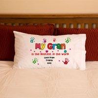 Gran Grandma Nan Hand Print Pillowcase - Nan Gifts