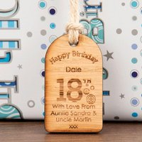 Personalised 18th Birthday Gift Tag - 18th Gifts