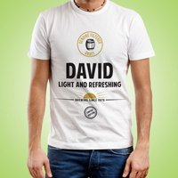Mens Customised Light & Refreshing Tee - 40th Birthday Gifts