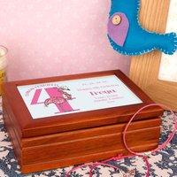 Flamingo 4th Birthday Customised Musical Jewellery Box - Jewellery Box Gifts